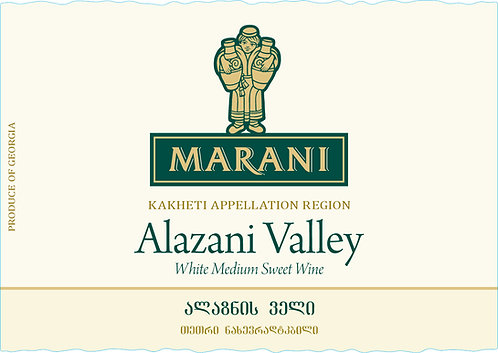 Marani Alazani Valley White - Semi-Sweet - Rkatsiteli 90%, Mtsvane 10%