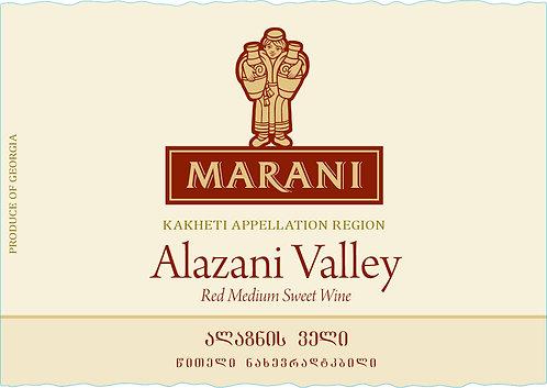Marani Alazani Valley red - Semi-Sweet - Saperavi 100%