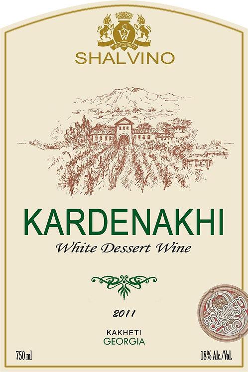 Kardenakhi - sweet fortified vintage wine Varieties: Rkatsiteli, Khikhvi, Gorul