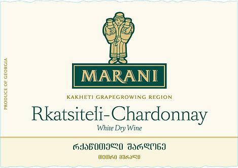 Marani Rkatsiteli-Chardonnay - Dry - Rkatsiteli 70%, Chardonnay 30%