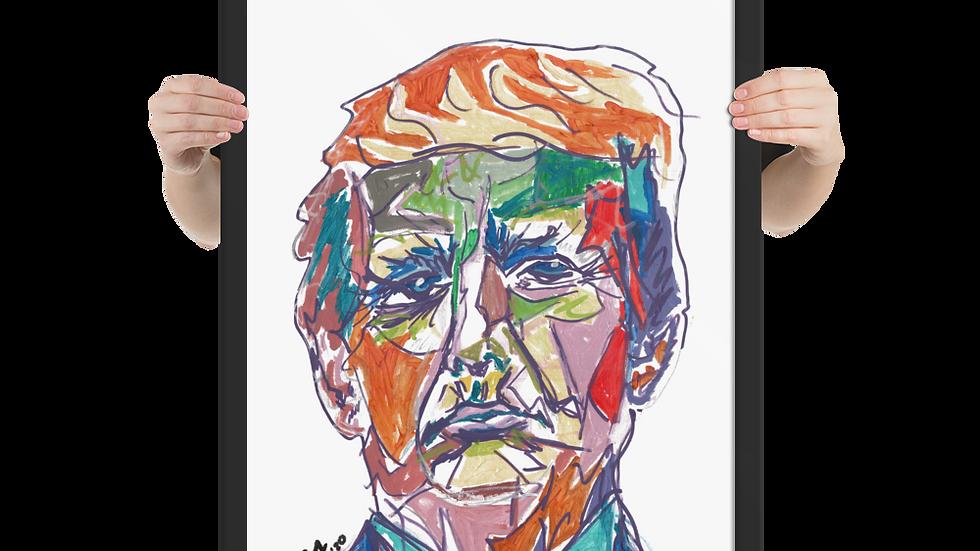 Portrait of 45 Framed Poster