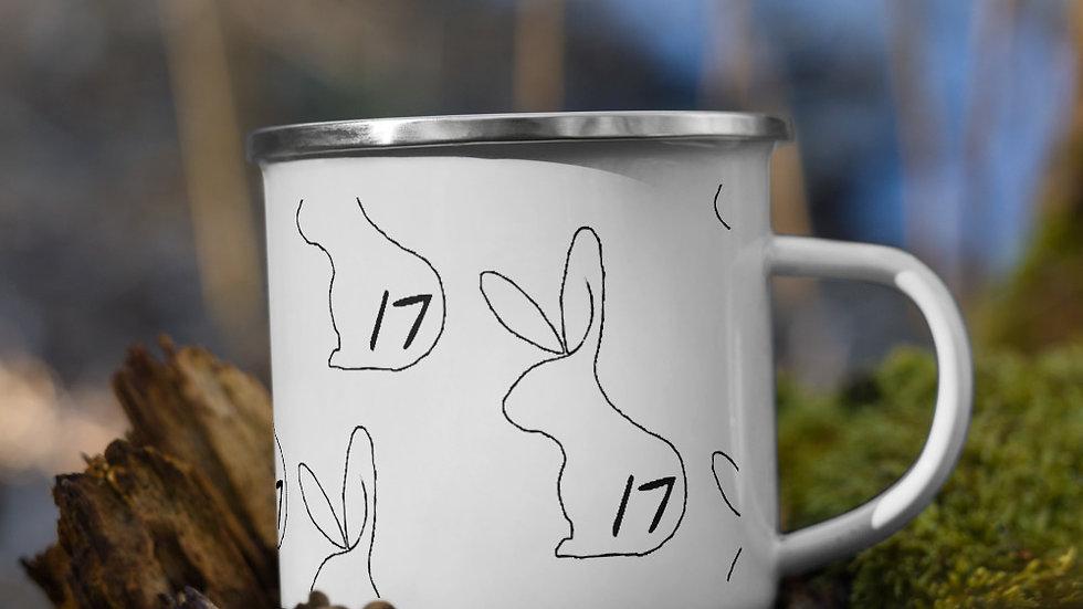 r17 lined Enamel Mug