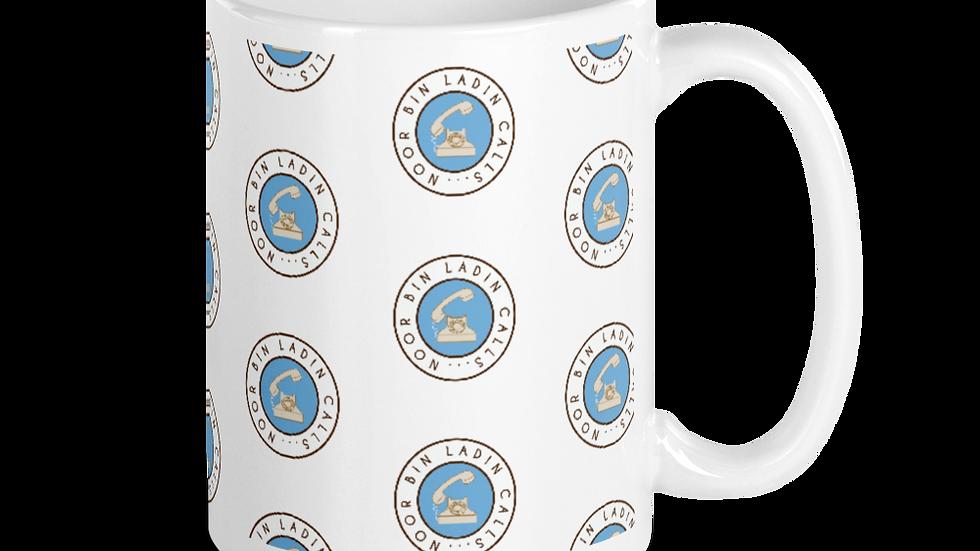 Noor Bin Ladin Calls...White glossy mug