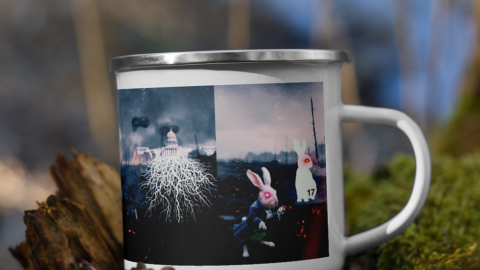 Rusty n Rabbit take on the ds Enamel Mug