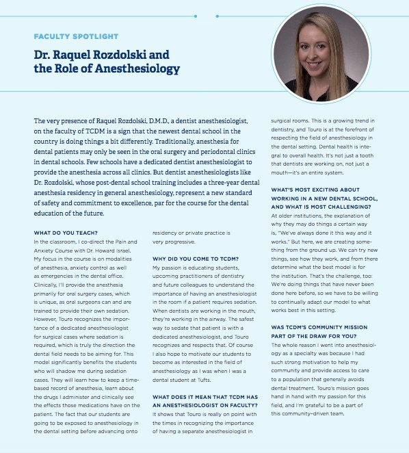 Dr. Raquel Rozdolsk - Faculty Spotlight