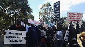 CSO Mining Indaba protest