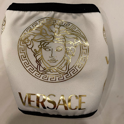 White Versace Print mask