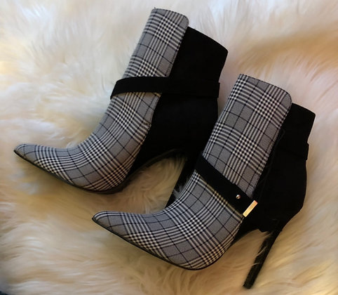 Plaid Ankle Booties
