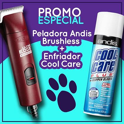 PROMO Peladora Andis Brushless + Enfriador Cool Care