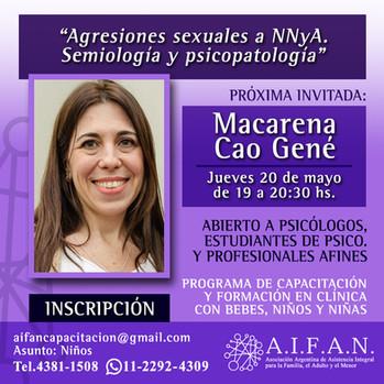 Agresiones sexuales a NNyA. Semiología y psicopatología. Por Macarena Cao Gené.