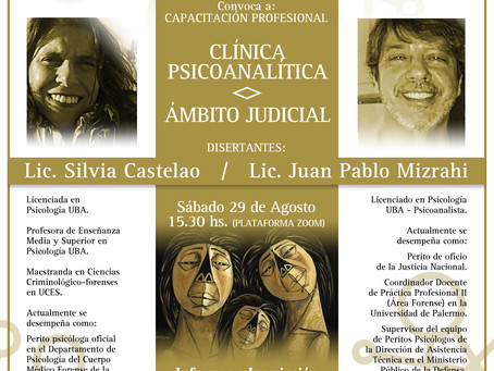 AIFAN CAPACITACIÓN PROFESIONAL: Clínica Psicoanalítica <> Ámbito Judicial