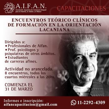 AIFAN CAPACITACIÓN PROFESIONAL: Encuentros teórico-clínicos de formación en la orientación lacaniana