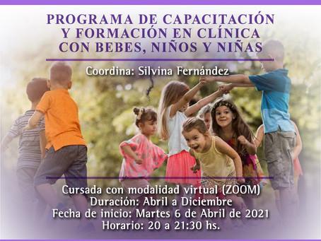 AIFAN CAPACITACIÓN PROFESIONAL: Programa de Capacitación y Formación en clínica con bebes, niños/as.