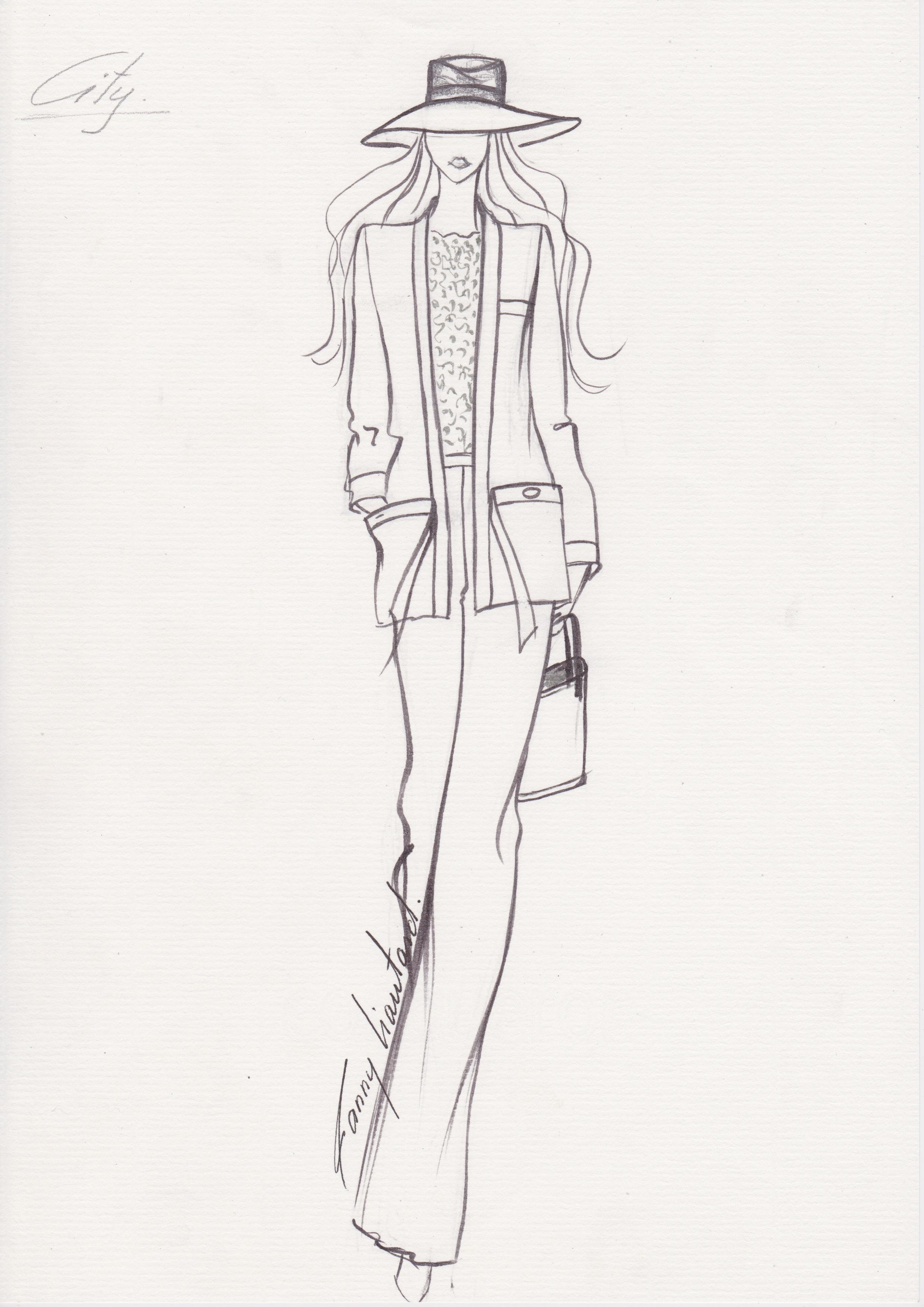 Tailleur noeud et poches plaqués