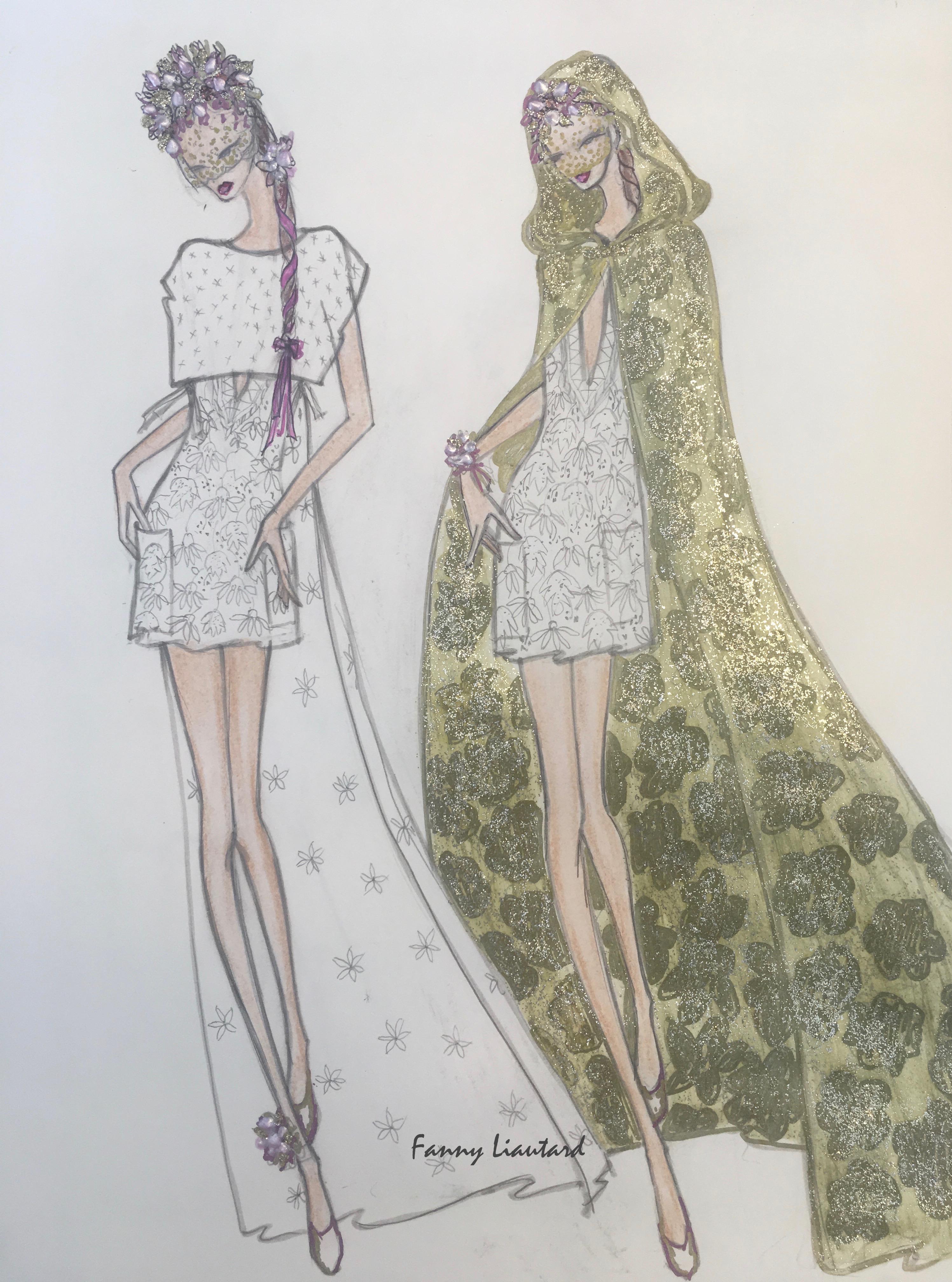 Robe et Cape de mariage