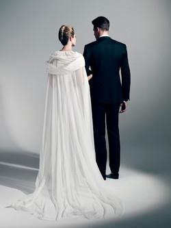 Cape de mariée