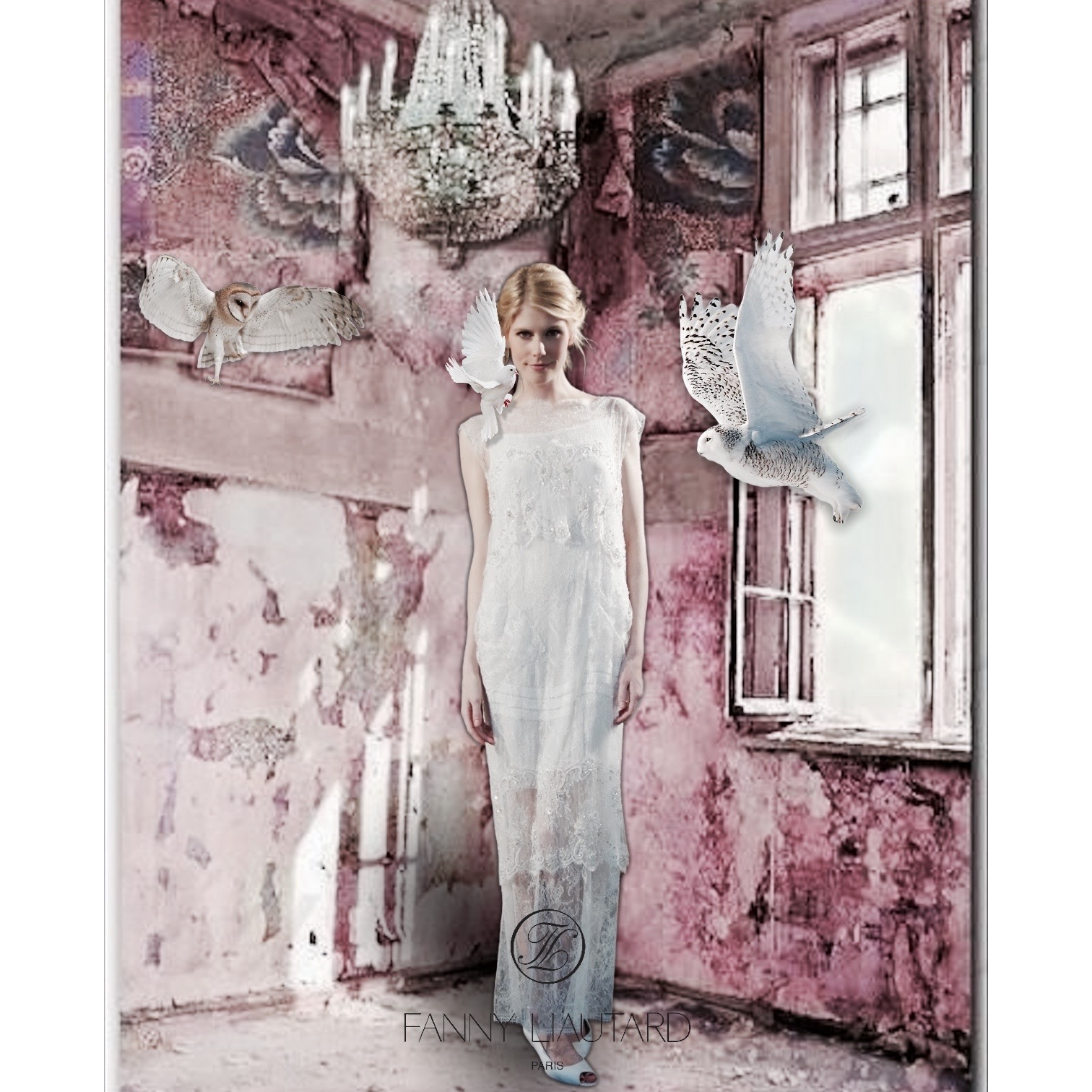 Robe de mariée en denete