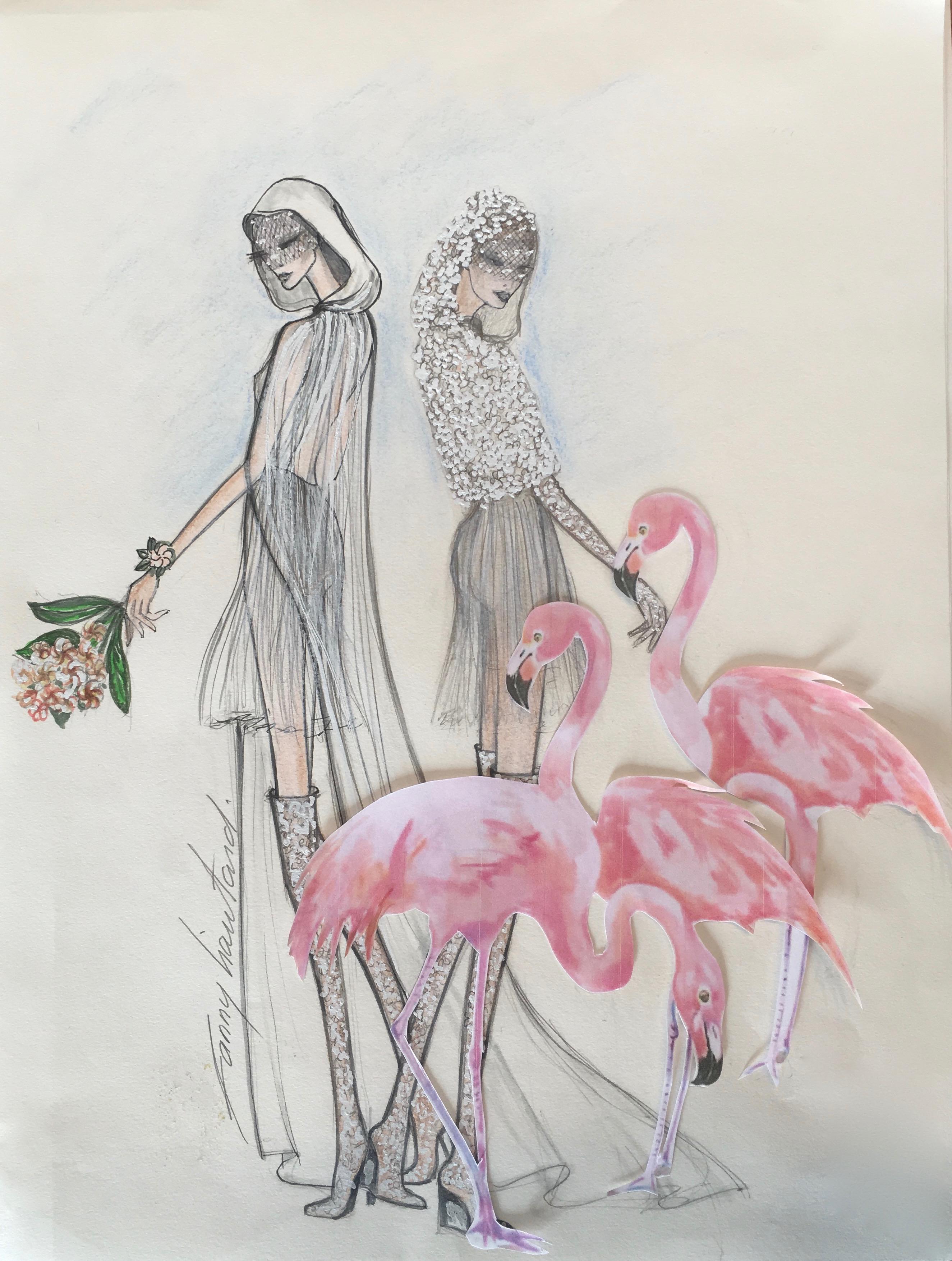 Robe de mariée  dos nu courte