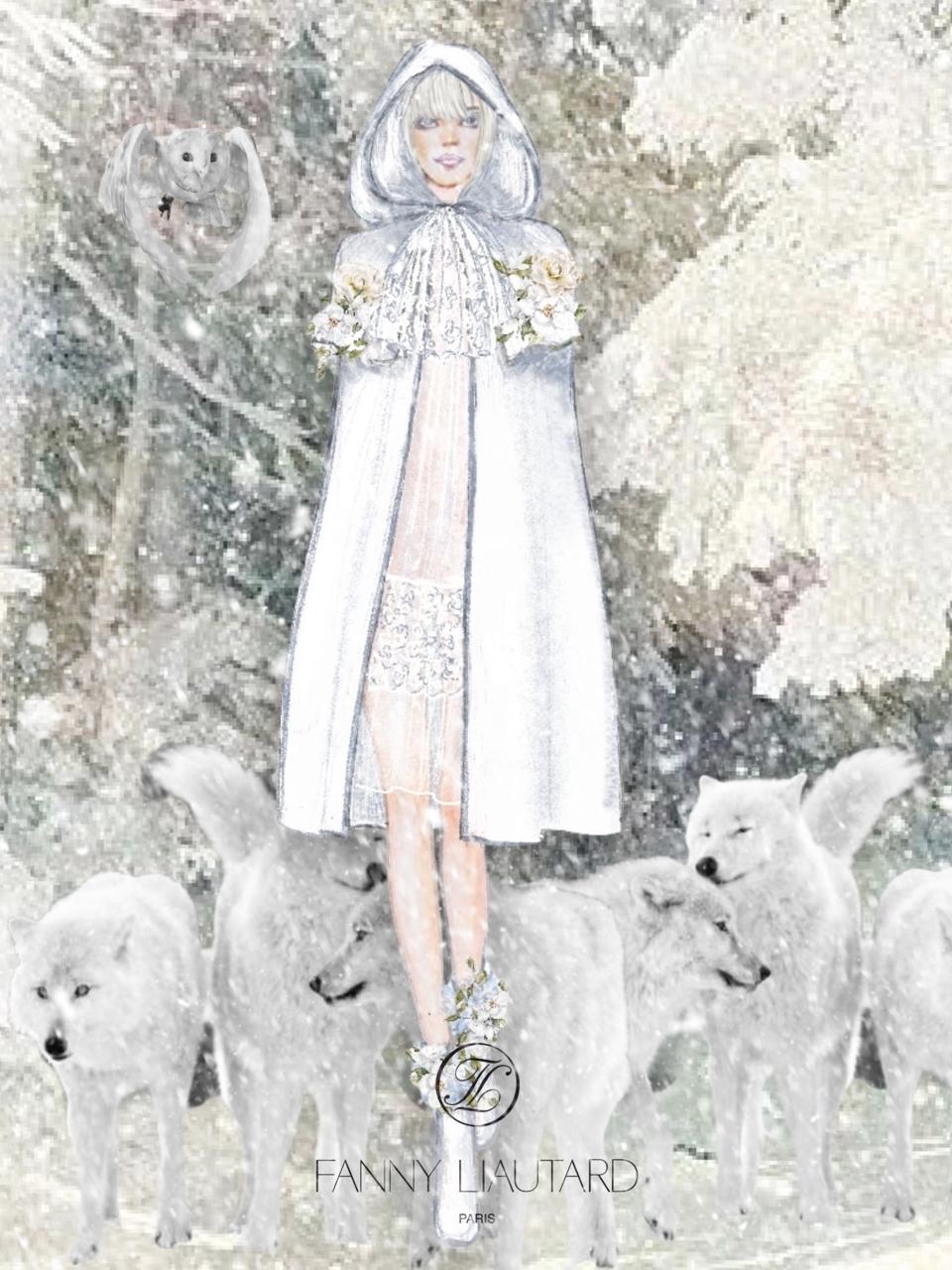 La mariée porte une cape