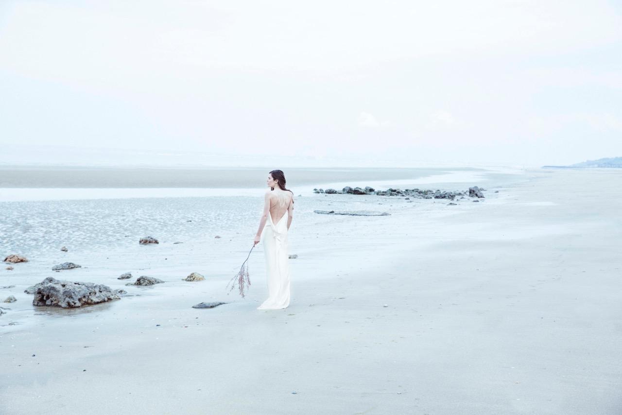 Mariée sur la plage