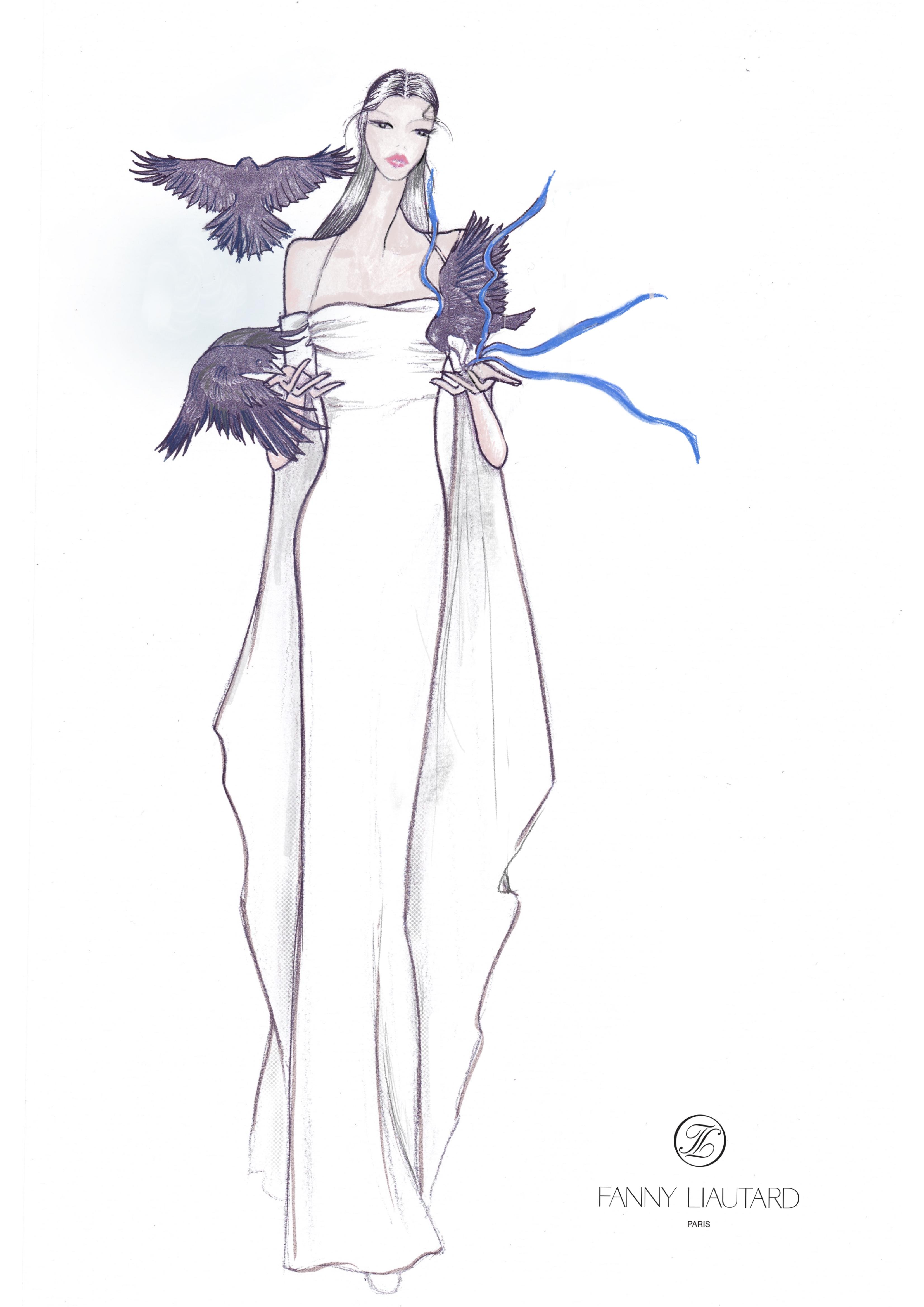 robe décolleté drapé