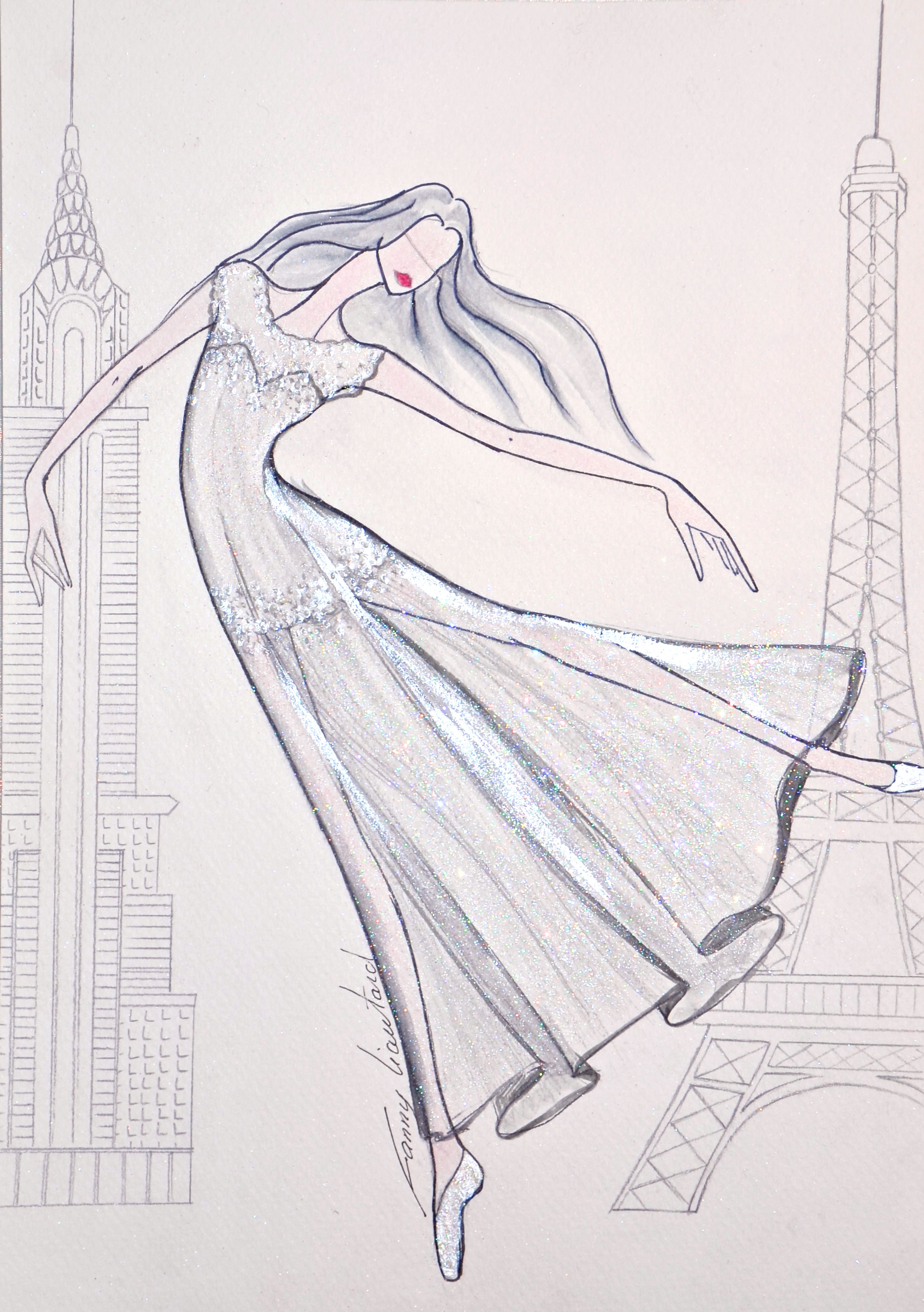 Paris New York Ballerine.