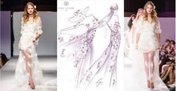 robes dentelle et fleurs