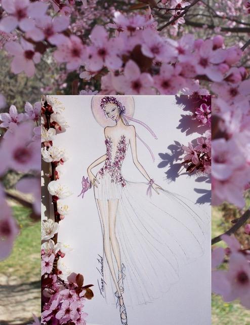 Des fleurs et de la mousseline