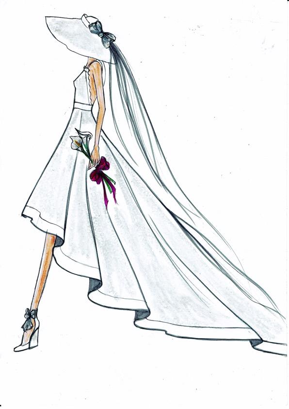 Robe courte devant & dos nu
