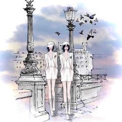 Le garçonnes à Paris, tailleur short de