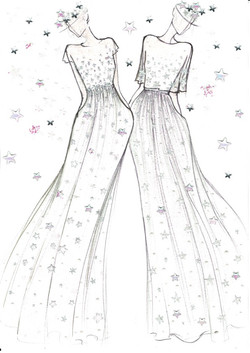 Dessin robes étoiles.