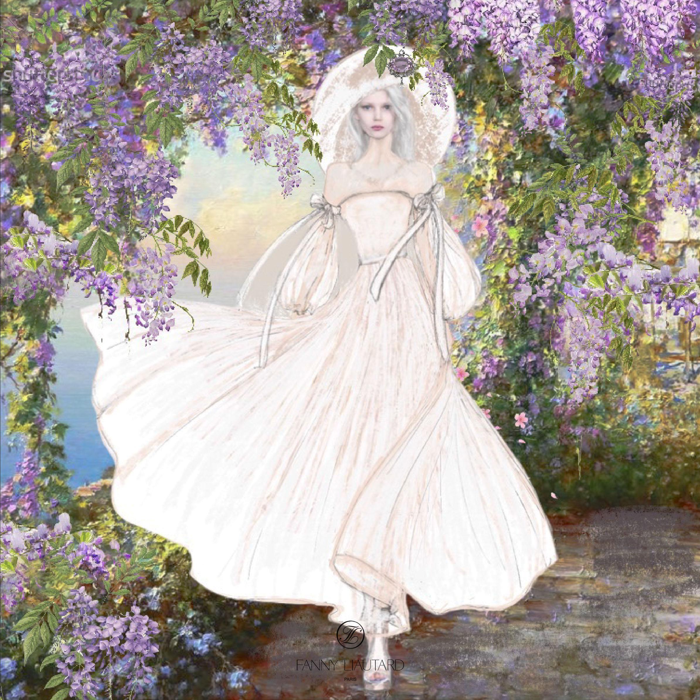 Les glycines parmes-Fanny Liautard-robe
