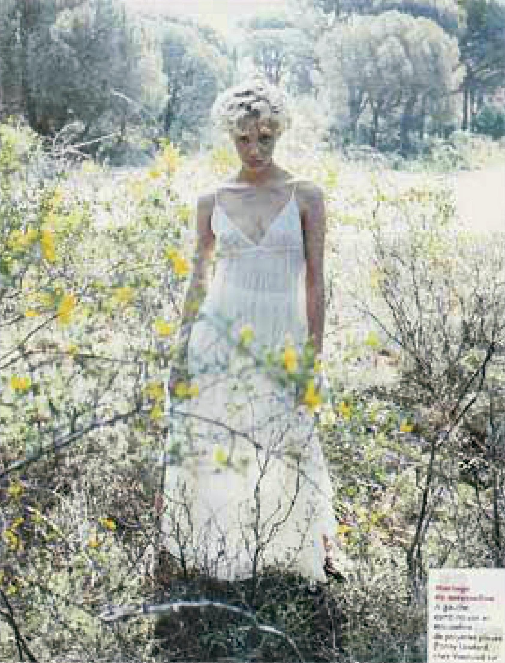 robe en mousseline plissée