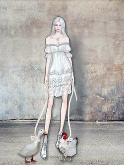 poule et canard @ la robe de mariée cour