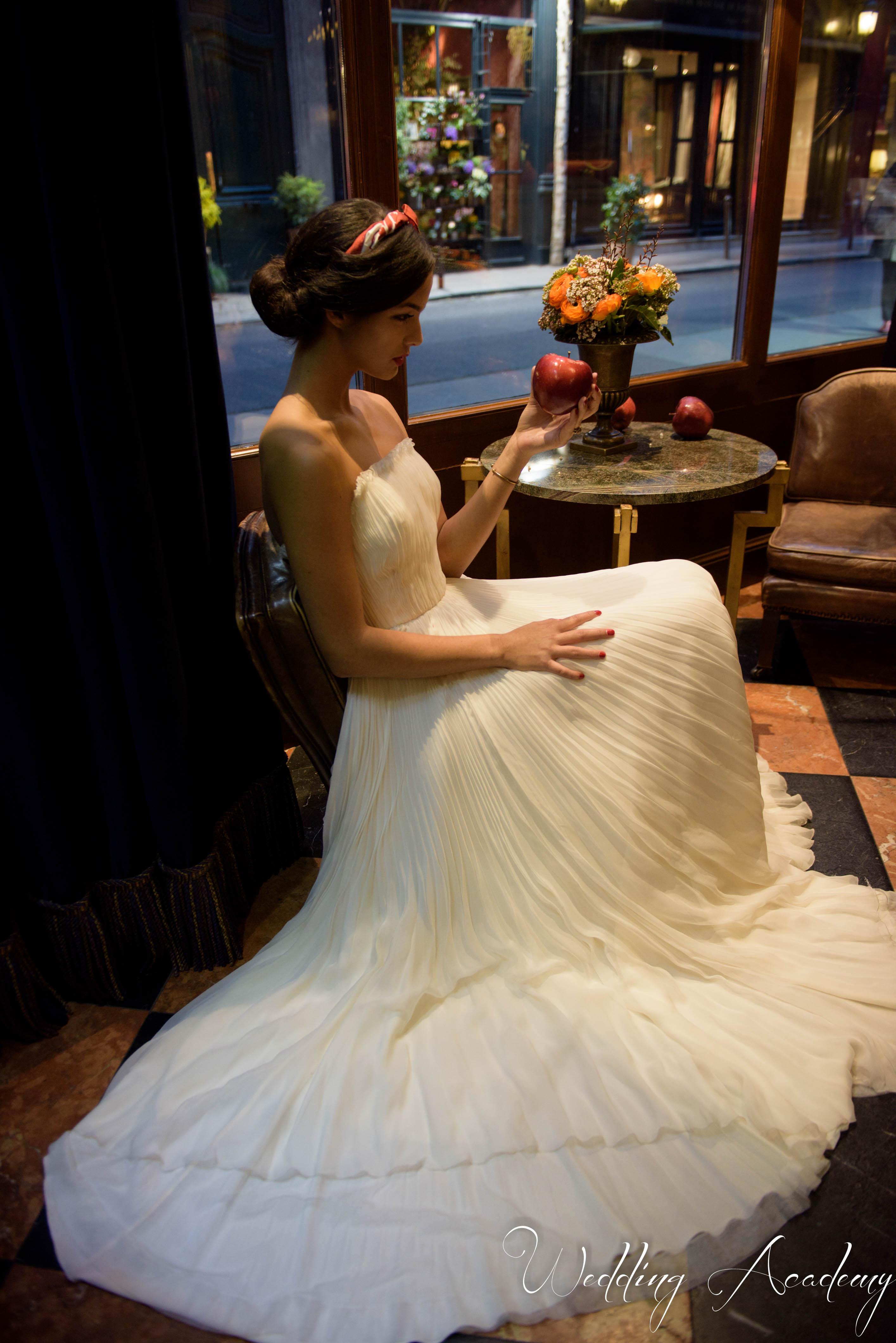 Robe de princesse mousseline de soie