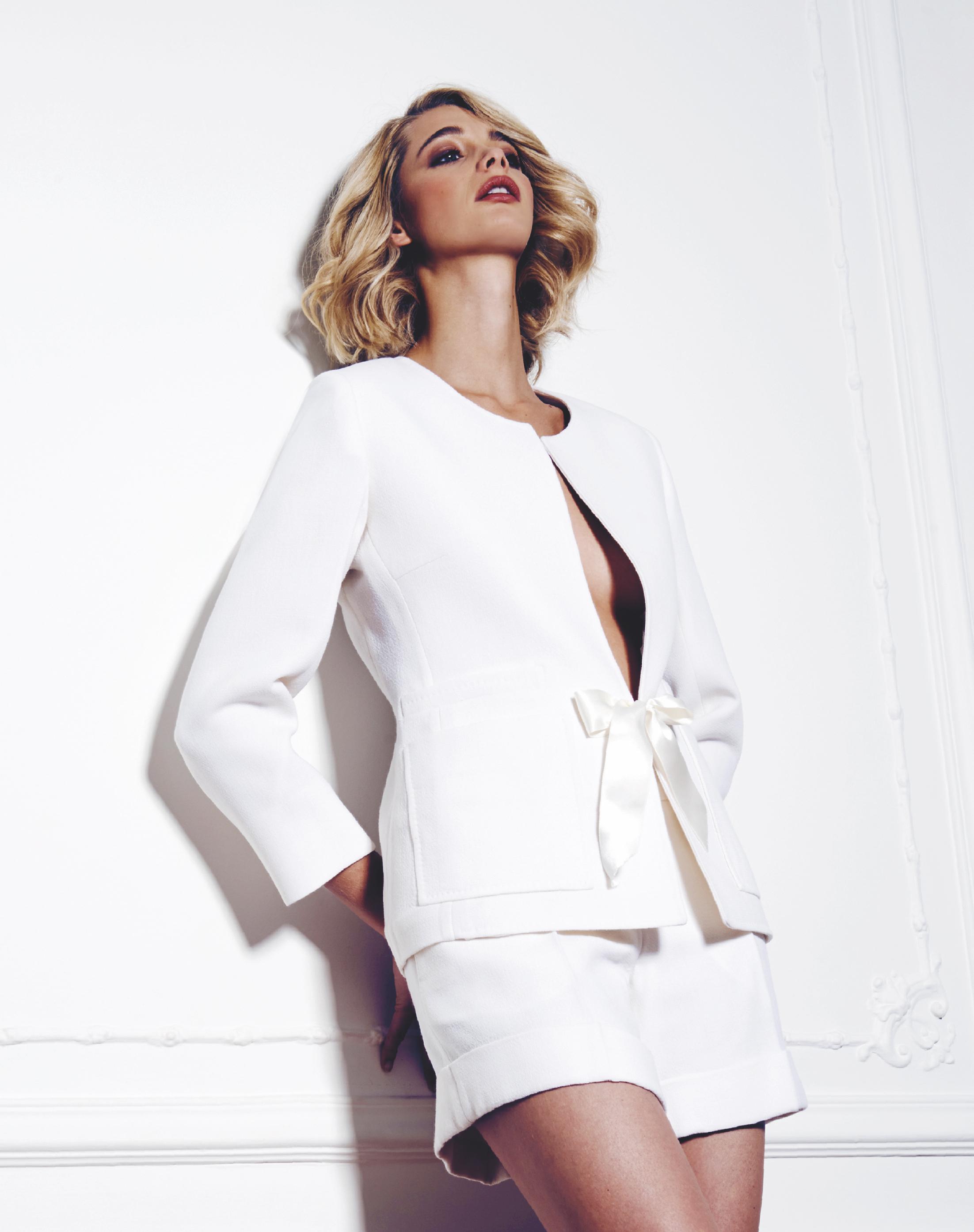 Tailleur blanc- veste et short _ FANNY L