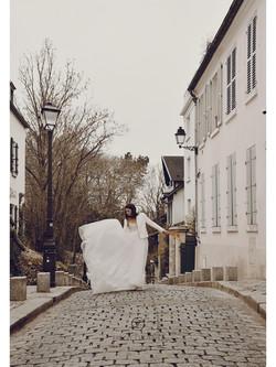 La mariée à Montmartre @ Fanny Liautard.