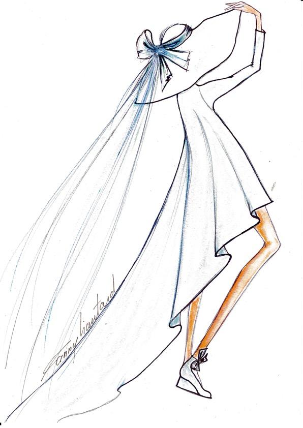 Robe de mariée forme trapèze