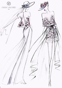 Robe fleurs brodées
