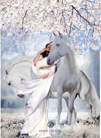La mariée et les chevaux