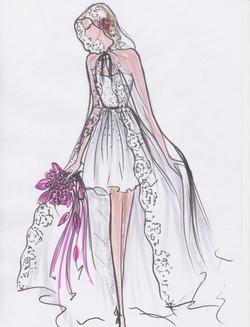robe courte et grande cape