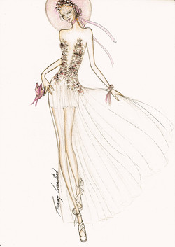 Dessin robe fleurs de provence 2