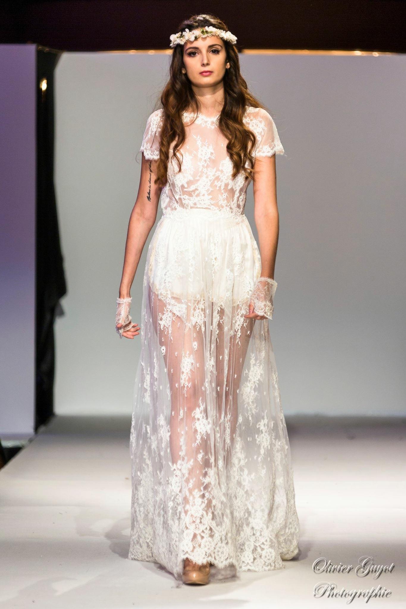"Robe de mariée ""dentelle guipure"""