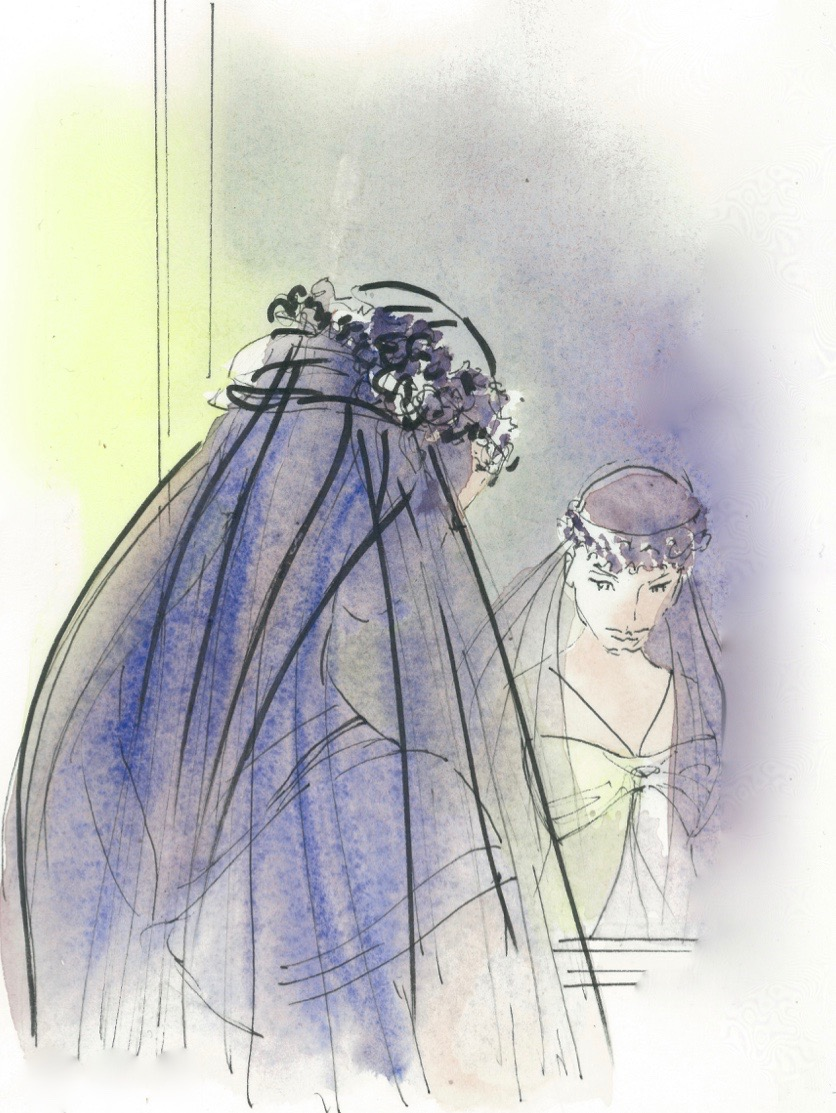 Fanny Liautard voile de mariée