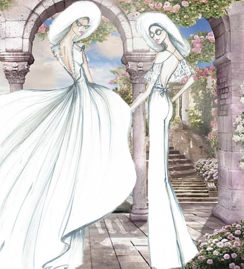 Mariées dos nu et volants