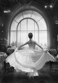 Robe de mariée longue et vaporeuse