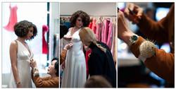Un essayage de robe de mariée