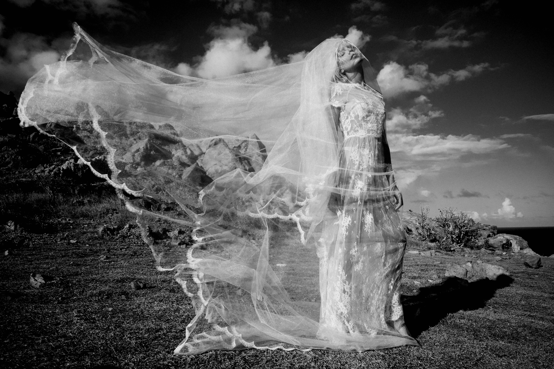 FANNY-LIAUTARD-2018-  Robe de dentelle et voile de tulle