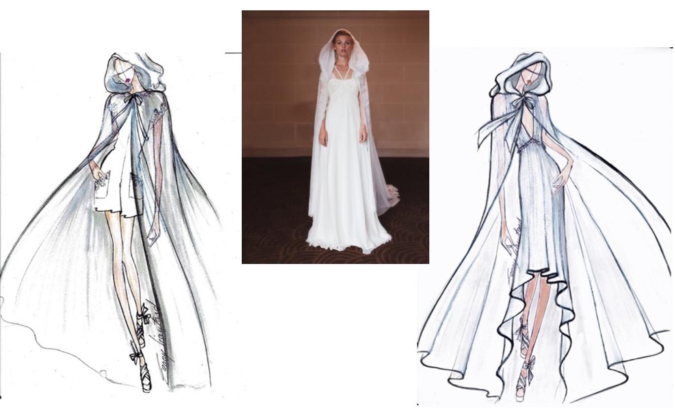 Les capes de mariée