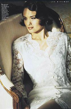Robe de mariée courte en dentelle de Calais _ Fanny Liautard
